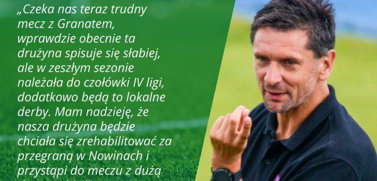 Trener Staru Tadeusz Krawiec przed meczem z Granatem