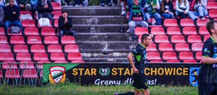 Karol Kopeć po strzeleniu gola